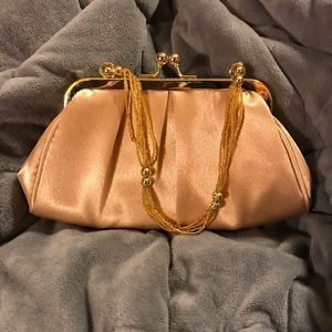 Gold clutch/cross body purse
